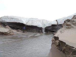 Smeltevandssletten foran Hiawatha Gletsjer.